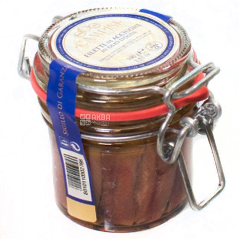 Campisi, 100 г, Анчоус в оливковом масле, консервированный