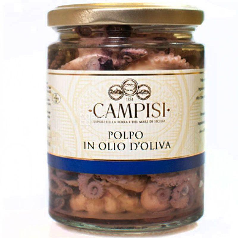 Campisi, 220 г, Осьминог в оливковом масле, консервированный
