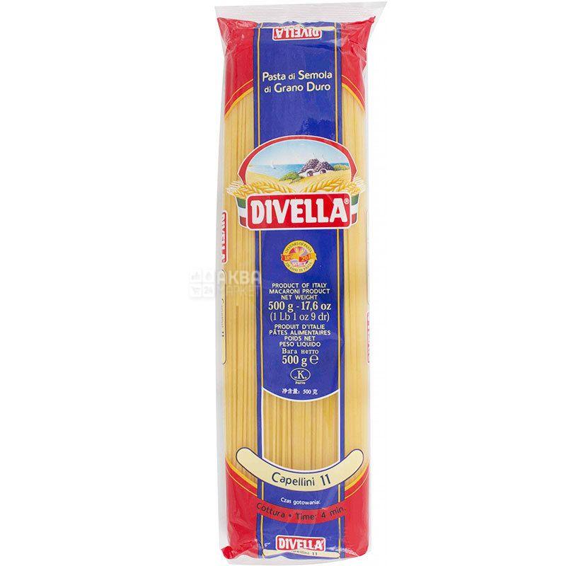Divella Capellini №11, 500 г, Макароны Дивелла Капеллини, Спагетти
