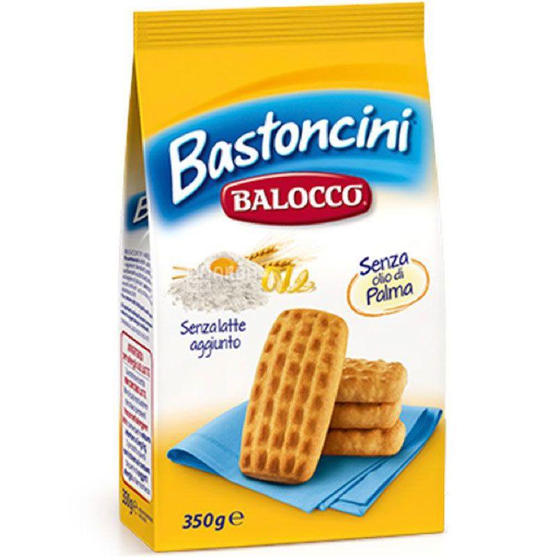 Balocco, Bastoncini, 350 г, Печиво пісочне, з лимонною цедрою