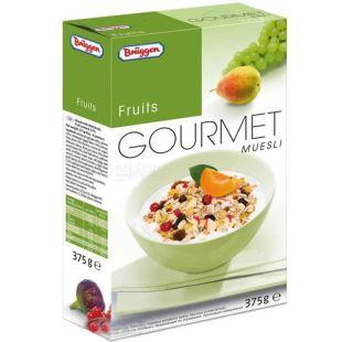 Bruggen, 375 г, Мюслі Брюгген, суміш злаків, з фруктами, насінням, ягодами, сухий сніданок, швидкого приготування