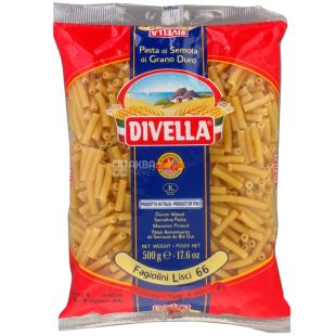 Divella Fagiolini Lisci №66, 500 г, Макарони Дівелла Фаджоліні Ліiши