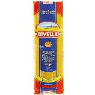 Divella Vermicelli №7, 500 г, Макарони Дівелла Вермішеллі, Спагеті