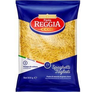 Pasta Reggia Spaghetti Tagliati №77, 500 г, Макарони Паста Реггіа, Вермишель
