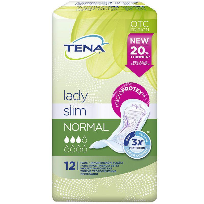 Tena Lady Slim Normal, 12 шт., Прокладки урологические, 3 капли