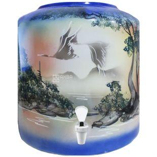 Dispenser, Swans, Blue