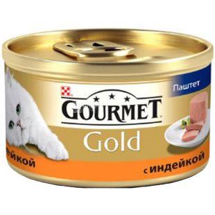 Gourmet, 85 г, Корм для котов с индейкой