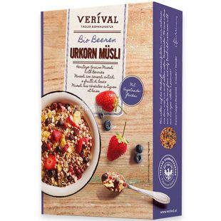 Verival, 50 г, Мюсли Веривал, с ягодами, органические, сухой завтрак, быстрого приготовления