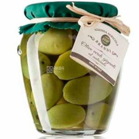 Brandi, Оливки зеленые Гигантские в рассоле, 24 мм, 280 г