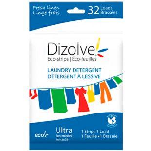 Dizolve Eco-stripe Fresh, Еко-пластини для прання Дизолві Фреш, ароматизовані, Свіжість, 32 шт.