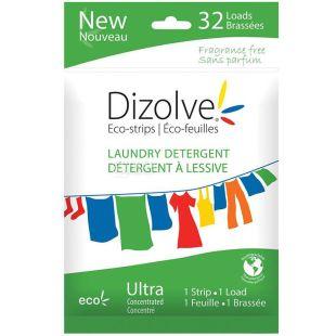 Dizolve Eco-stripe, Еко-пластини для прання Дизолві, неароматизовані, 32 шт.