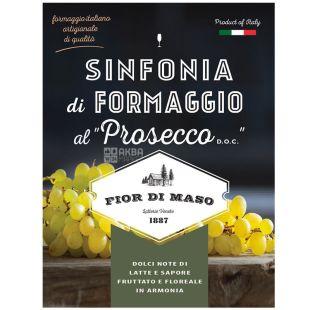 Fior di Maso, Prosecco D.O.C cheese, 300 г, Сир з Просекко, 38%