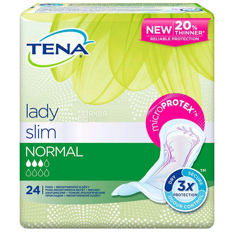 Tena Lady Slim Normal, 24 шт., Прокладки урологические, 3 капли