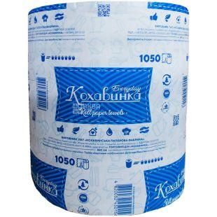 Кохавинка, 1 рул., Бумажные полотенца, однослойные, синие, 150 м, 1050 отрывов
