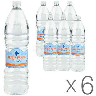 Acqua Panna, 1,5 л, Упаковка 6 шт., Аква Панна, Вода минеральная негазированная, ПЭТ