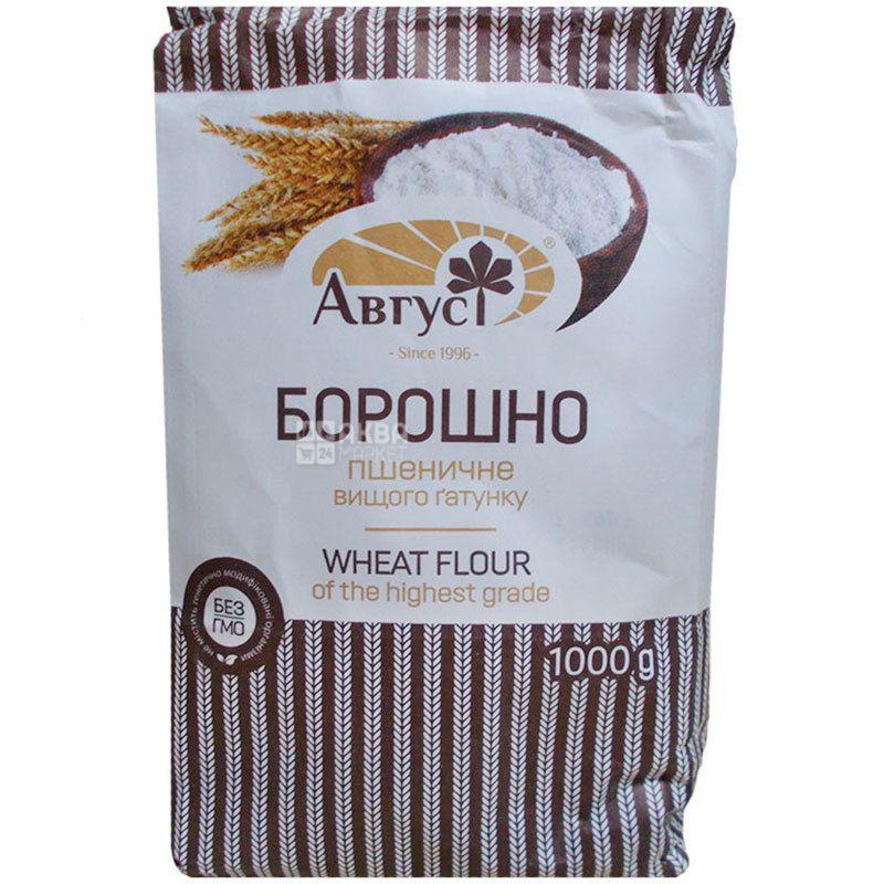 Август, Мука пшеничная, высший сорт, 1 кг