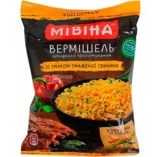 Mivina, 60 g, Vermicelli with pork flavor, not spicy