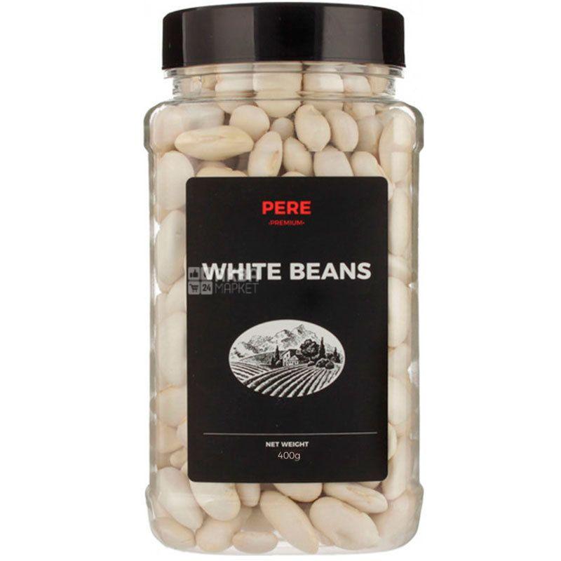 Pere, White beans, 400г, Пере, Фасоль белая, ПЭТ