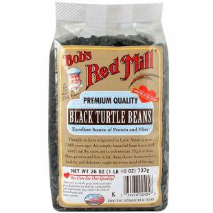 Bob's Red Mill, Black turtle beans, 737 г, Бобс Ред Мілл, Квасоля чорна