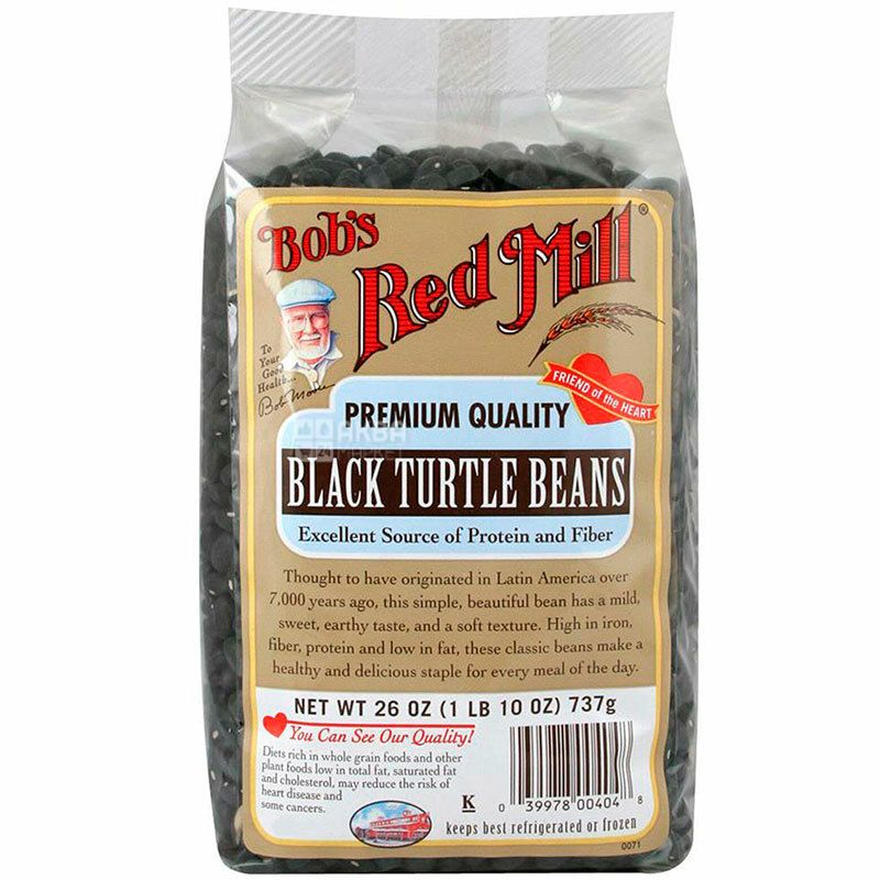 Bob's Red Mill, Black turtle beans, 737 г, Бобс Ред Милл, Фасоль черная