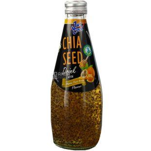 Jus Cool, Chia Seed, 0,3 л, Напиток соковый негазированный, Маракуйя, Мед и семена Чиа