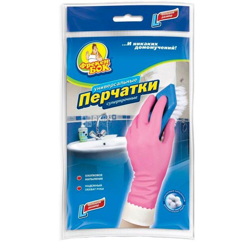 Фрекен Бок, розмір L, рукавички господарські, Суперміцні, м/у