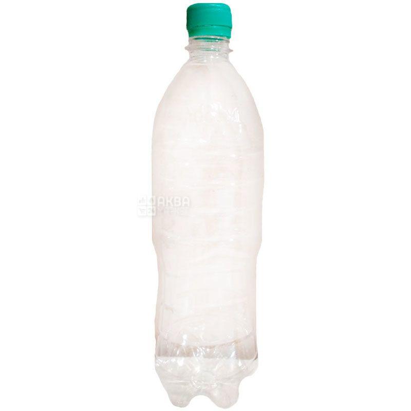 Бутыль, 1 л, ПЭТ, с крышкой, узкое горло, прозрачная