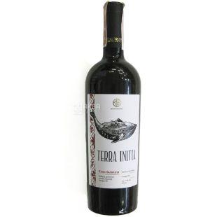 Terra Initia, Kindzmarauli, Вино красное полусладкое, 0,75 л