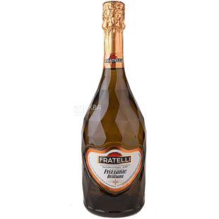 Fratelli Frizzante Brilliant, Вино слабогазированное, белое полусладкое, 0,75 л