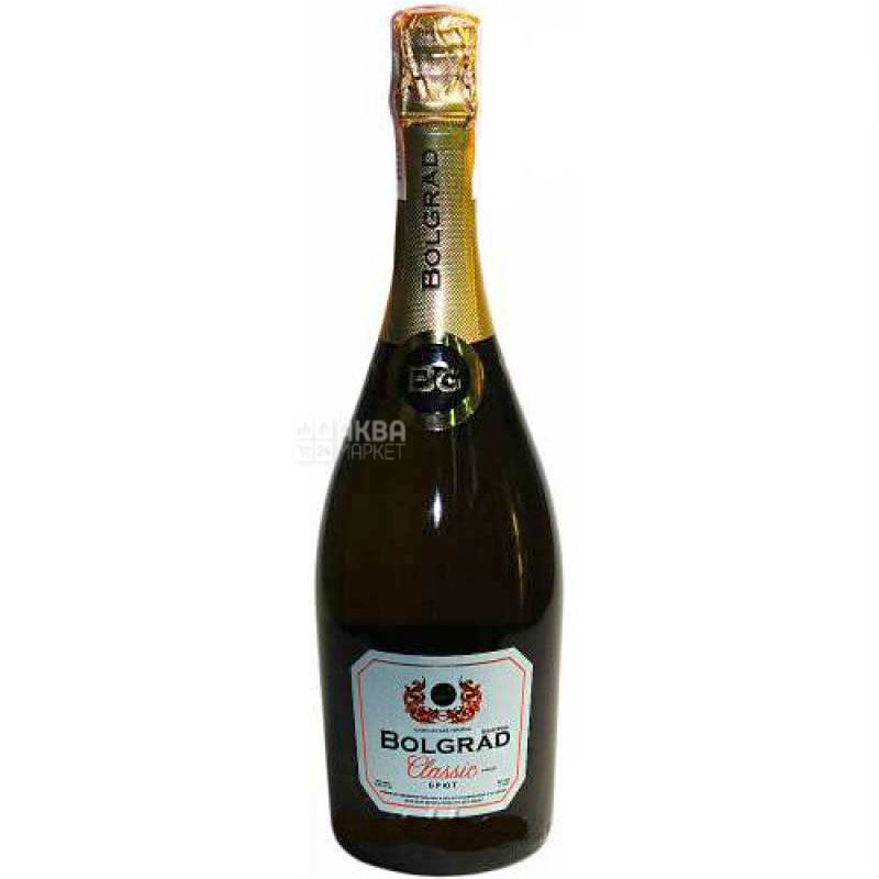 Bolgrad Classic Brut, Вино игристое белое брют, 0,75 л