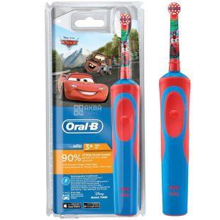 Oral-B Braun Cars, Детская зубная щетка, электрическая, 1 шт.