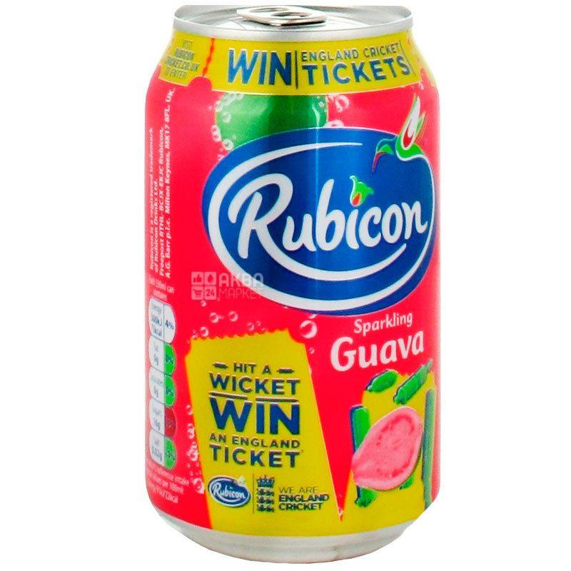Rubicon, 0,33, Напиток сильногазированный, со вкусом гуавы