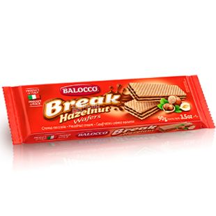 Balocco Break, 90 г, Вафли с фундуком