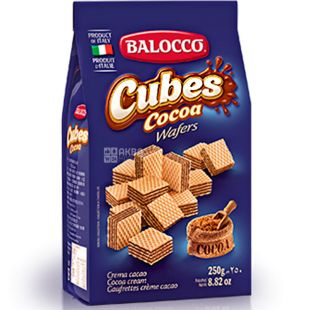 Balocco Cubes, 250 g, Cocoa Waffles