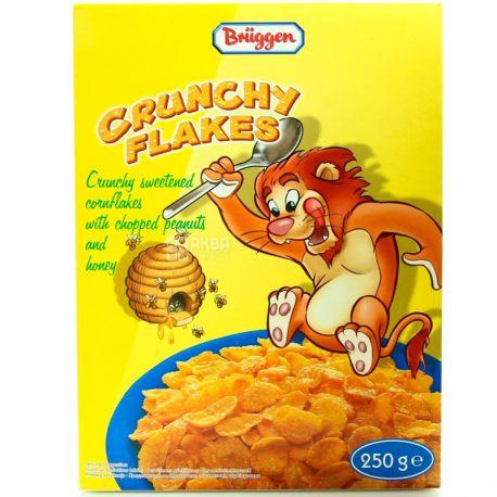 Bruggen, Corn Flakes Honey, 250 г, Пластівці кукурудзяні Брюгген з медом