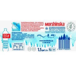 Morshynska Water, 1,5l, non-carbonated, PET, PAT