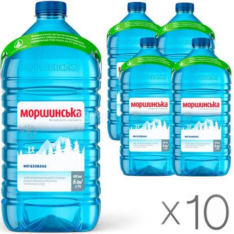 Моршинська, Упаковка 10 шт. по 6 л, Вода негазована, ПЕТ, ПЕТ