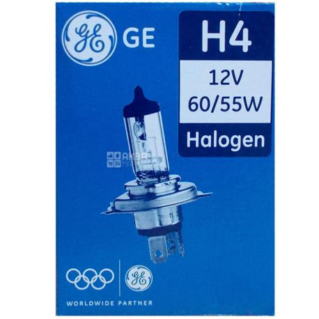 General Electric H4 12V 60/55W P43t GE, Автолампа галогенная