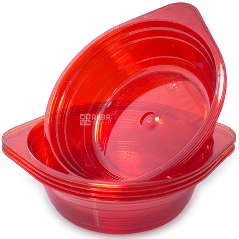 Deep glass-like plate, assorted, 350 ml, 10 pcs