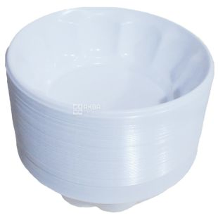 Single-piece ice-cream bowl, white, d-11 cm, 100 pcs