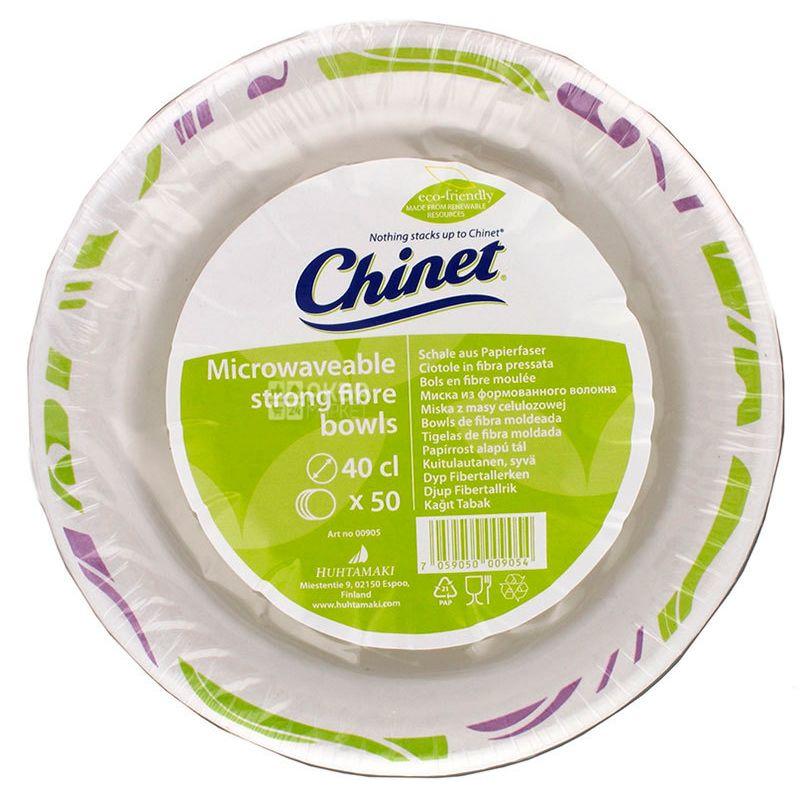 Chinet Flavor, Soup paper plate Ø 40 cm, 50 pcs.