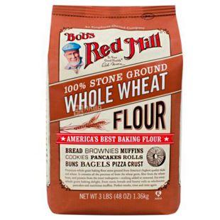 Bob's Red Mill, Wheat Flour, 1,36 кг, Борошно Бобс Ред Мілл, пшеничне, цільнозернове