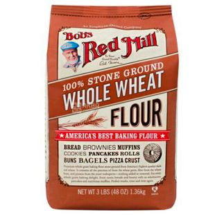 Bob's Red Mill, Wheat Flour, 1,36 кг, Мука Бобс Ред Милл, пшеничная, цельнозерновая