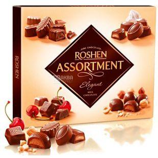 Roshen Assortment Elegant, 145 г, Цукерки асорті в молочному шоколаді
