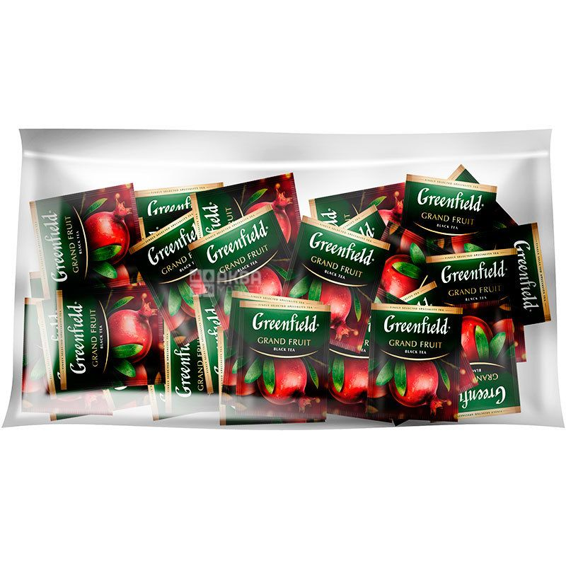 Greenfield, Grand Fruit, 100 пак. x 2 г,, Чай Гринфилд, Гранд Фрут, черный с гранатом ,HoReCa
