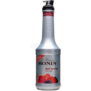 Monin Red Berries, 1,36 кг, Фруктове пюре Монін, Червоні ягоди, ПЕТ