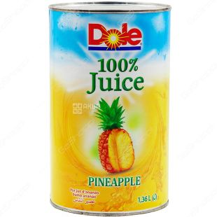 Dole Pineapple, 1.36 L, Natural Pineapple Juice, Directly Pressed