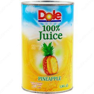 Dole Pineapple, 1,36 л, Сок ананасовый натуральный, прямого отжима