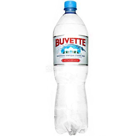 Buvette Vital, 1,5 л, Бювет Витал, Вода минеральная негазированная, ПЭТ