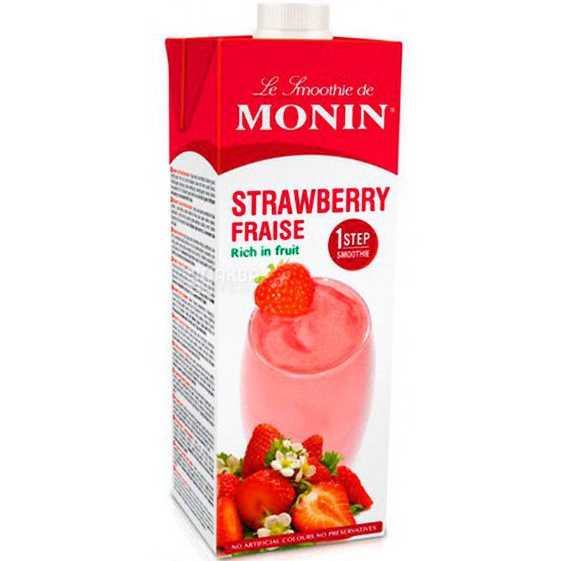Monin Strawberry, 1 л, Смузі Монін, Полуниця